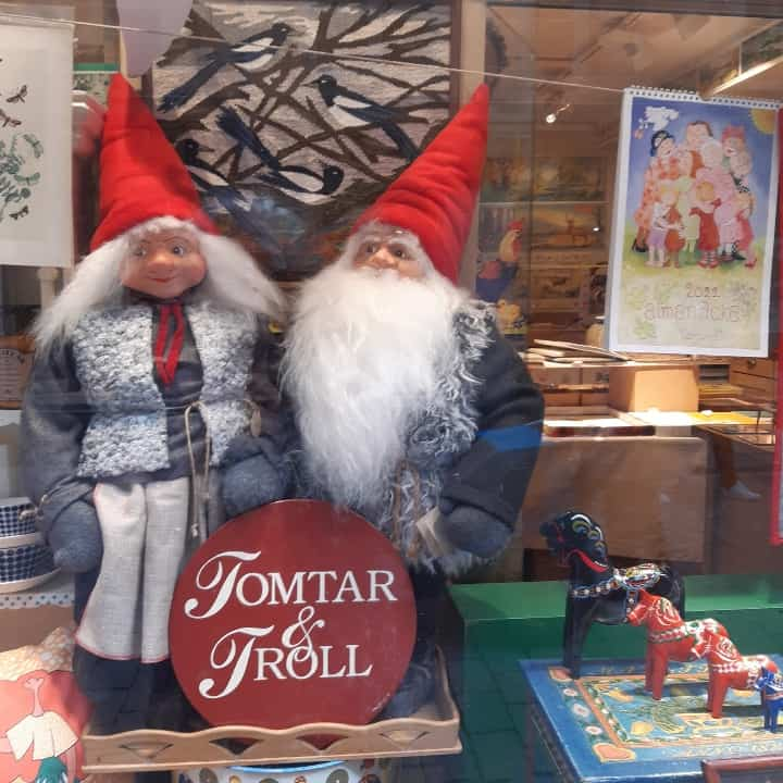 Gnomes shop old town Stockholm