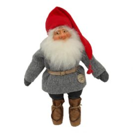 Tomte Swedish gnome grey clothes