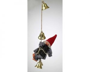Tomte on a rope with bells